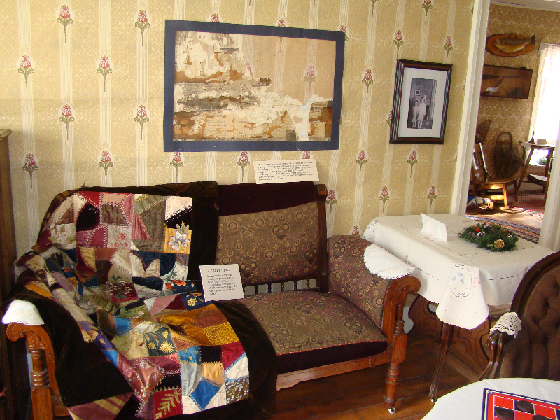 Parlor with new wallpaper