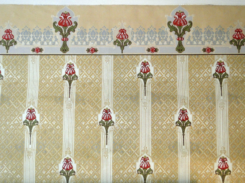 Wallpaper in the parlor