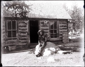 First citizen Joseph Wescott at his cabin