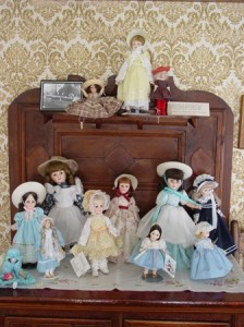 A few of the dolls on display